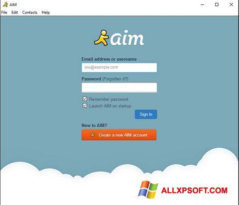 Screenshot AOL Instant Messenger Windows XP