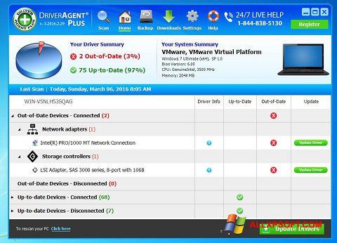 Screenshot DriverAgent Windows XP