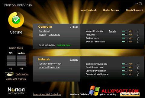 Screenshot Norton AntiVirus Windows XP