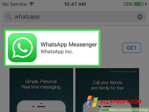 Screenshot WhatsApp Windows XP