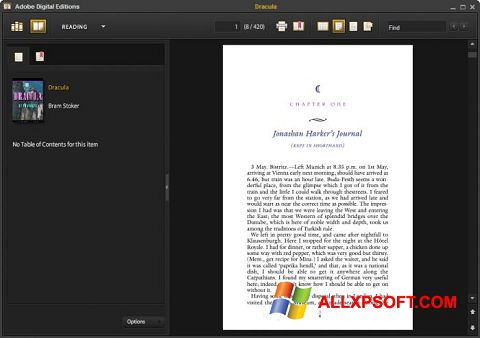 Screenshot Adobe Digital Editions Windows XP
