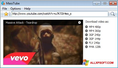 Screenshot MassTube Windows XP