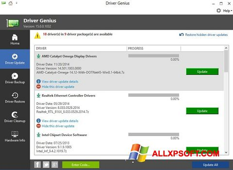 Screenshot Driver Genius Windows XP