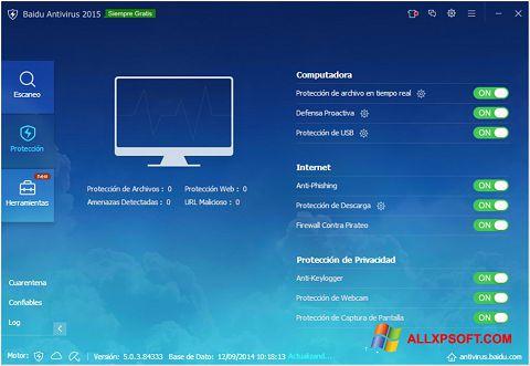 Screenshot Baidu Antivirus Windows XP