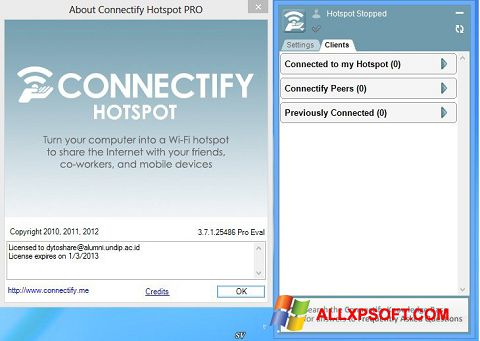 Screenshot Connectify Pro Windows XP