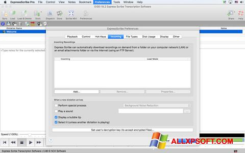 Screenshot Express Scribe Windows XP