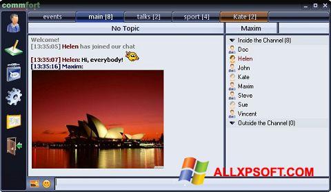 Screenshot CommFort Windows XP