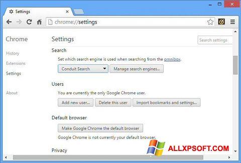 Screenshot Chrome Cleanup Tool Windows XP