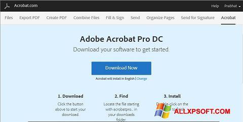 Screenshot Adobe Acrobat Windows XP