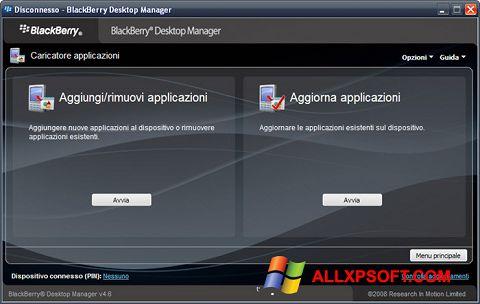 Screenshot BlackBerry Desktop Manager Windows XP