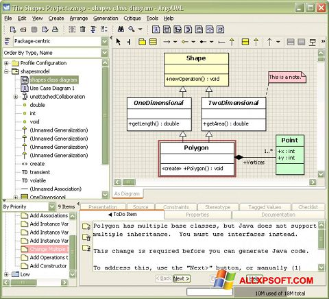 Screenshot ArgoUML Windows XP