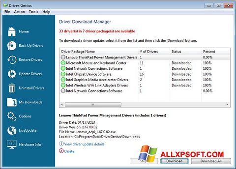 Screenshot Driver Genius Professional Windows XP