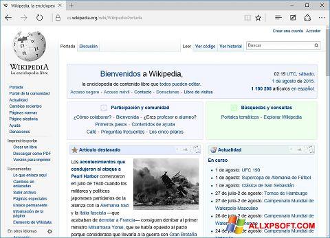 Screenshot Microsoft Edge Windows XP