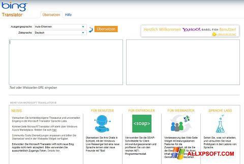 Screenshot Bing Translator Windows XP