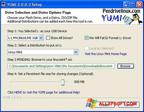 Screenshot YUMI Windows XP