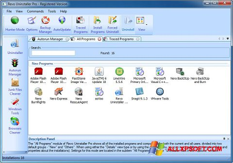 Screenshot Revo Uninstaller Pro Windows XP
